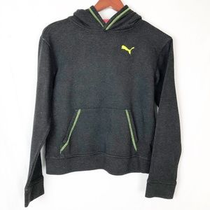 Puma Size Large Boys Neon Yellow with Black Hoodie